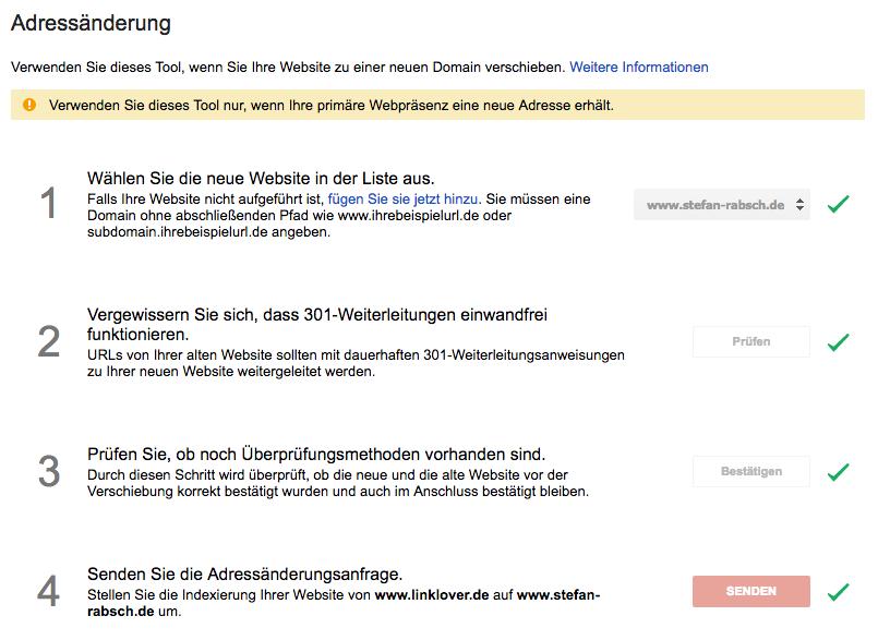 Google Tool zur Adressänderung